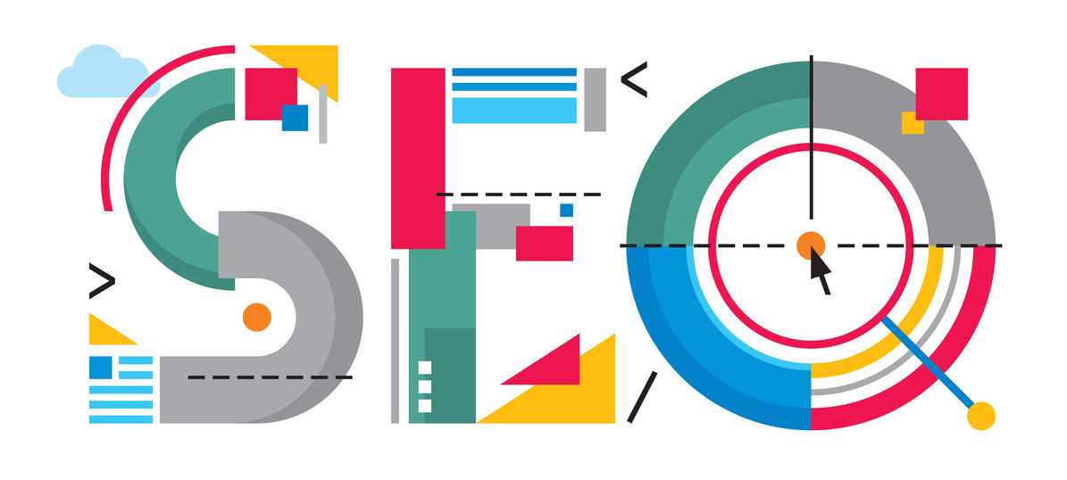 SEO - word sign abstract illustration